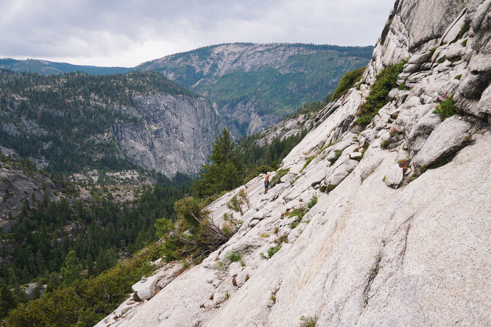 At the base of Half Dome
