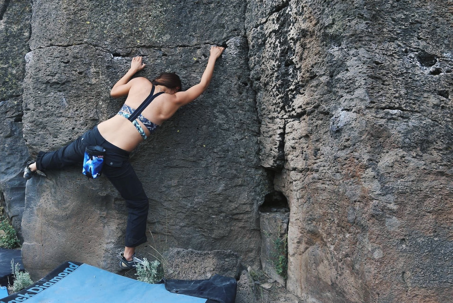 climbing on Problem A in Sector C